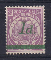 Transvaal: 1895   Flags - Surcharge    SG214    1d On 2½d   MH - Transvaal (1870-1909)