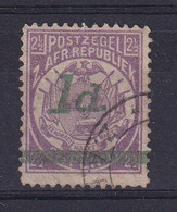 Transvaal: 1895   Flags - Surcharge    SG214d   1d On 2½d  [Square Dot] Used - Transvaal (1870-1909)