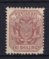 Transvaal: 1895/96   Flags - Wagon With Pole   SG212a    10/-      MH - Transvaal (1870-1909)