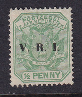 Transvaal: 1900   Flags 'V.R.I.' OVPT  SG226   ½d    MH - Transvaal (1870-1909)
