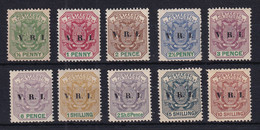 Transvaal: 1900   Flags 'V.R.I.' OVPT Selection To 10/-      MH - Transvaal (1870-1909)