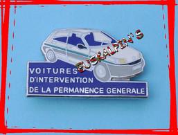 Pin's RENAULT CLIO , RATP, Véhicule D'intervention De La Permanence Générale, EGF - Renault