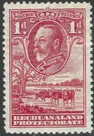 Bechuanaland Protectorate. 1932 KGV. 1d MH. SG 100 - 1885-1964 Bechuanaland Protectorate