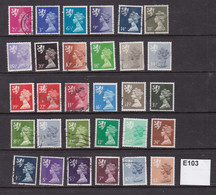 Scotland 1971 Small Accumulation Of Machins Definitives - Scotland