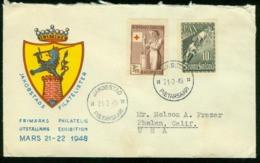 Er Finland, 21.3.1948 Philatelic Exhibition, Jakobstad   Sent To USA - Briefe U. Dokumente