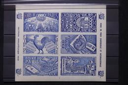 FRANCE - Bloc De Vignettes De La Foire De Paris En 1942 - L 108380 - Blocs & Carnets
