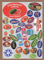 AC - FRUIT LABELS Fruit Label - STICKERS LOT #131 - Fruits & Vegetables