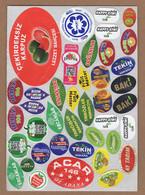 AC - FRUIT LABELS Fruit Label - STICKERS LOT #132 - Fruits & Vegetables