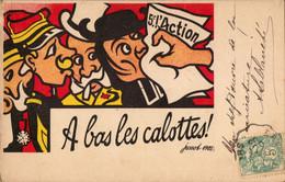 À BAS LA CALOTTE  Caricature  Anti-cléricale Dessin Humoristique Jossot - Autres Illustrateurs