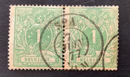 Liggende Leeuw OBP 26 - 1c Gestempeld DC SPA - 1869-1888 Lion Couché