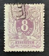 Liggende Leeuw OBP 29 - 8c Gestempeld PD In Rechthoek - 1869-1888 Lion Couché