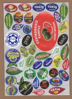 AC - FRUIT LABELS Fruit Label - STICKERS LOT #128 - Fruits & Vegetables