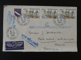Lettre Par Avion Air Mail Cover Jeux Olympiques Mexico 1968 Olympic Games Ref 101286 - Estate 1968: Messico
