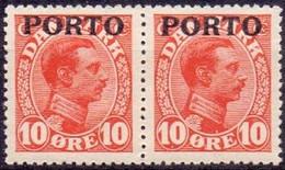Denemarken 1934 10 öre Strafport Paar PL-MLH - Portomarken