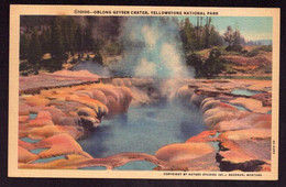 AK 002736 USA - Wyoming - Yellowstone National Park - Oblong Geyser Crater - Yellowstone