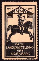 ADVERTISING CINDERELLA / VIGNETTE PUBLICITAIRE : BAYER. LANDESAUSSTELLUNG - NÜRNBERG : MAI - OKT. 1906 (ai102) - Erinnofilia