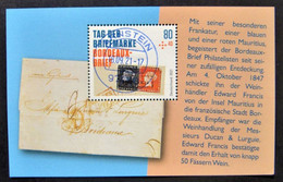 """Bund/BRD September 2021,  Block 88 """"Tag Der Briefmarke-Bordeaux-Brief"""", MiNr 3623, Gestempelt - Usati"""