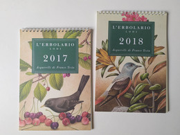 Alt1186 Calendario Calendar, Disegni Acquerelli, Watercolors Drawing, Fiori Flowers, Uccelli Birds Oiseaux 2017 2018 - Formato Grande : 2001-...