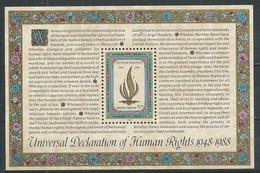 Nations Unies New York Bloc-feuillet YT N°10 Déclaration Universelle Des Droits De L'homme Neuf ** - Blocks & Kleinbögen