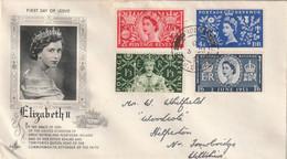 UK 1953 FDc Mailed - 1952-1971 Dezimalausgaben (Vorläufer)