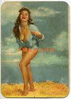 Pocket Calendar Almanaque De Bolsillo Sensual Woman Pin-up Girl 1959 Advertising Ryalsche Compresores - Petit Format : 1941-60