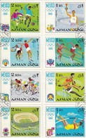 AJMAN 247-254,used,olympic Sport - Estate 1968: Messico