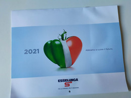 Alt1186 Calendario Calendar, Esselunga Market Supermarket Cibo Food Frutta Fruit Verdura Vegetables 2021 - Formato Grande : 2001-...