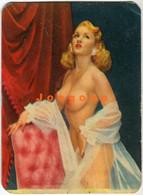 Pocket Calendar Almanaque De Bolsillo Sensual Naked Nude Woman Pin-up Girl 1959 Advertising Ryalsche Compresores - Petit Format : 1941-60