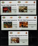 BURUNDI 2012 FESTIVAL DU MONDE SET OF 5 BLOCKS MNH VF!! - 2010-..: Ongebruikt
