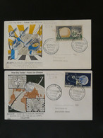 FDC (x2) Telecommunications Spatiales Satellite Telstar Reunion CFA Ref 101358 - Lettres & Documents