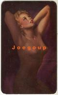 Pocket Calendar Almanaque De Bolsillo Sensual Naked Nude Woman 1956 Buenos Aires Argentina - Petit Format : 1941-60
