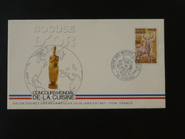 Lettre Cover Bocuse D'Or Gastronomie Gastronomy Cooking World Contest 1987 Chassieu Ref 101378 - Briefe U. Dokumente