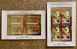 Mini Sheets Gold Olympic Games Seoul 1988 Togo Perf. - Zomer 1988: Seoel