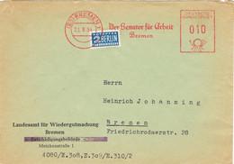 42020. Carta Comercial BREMEN (Alemania Federal) 1954. Franqueo Mecanico, Stamp NOTOPFER Berlin - Covers & Documents