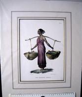 C.C.A.Last Del, Maleisch Meisje, Malay Girl, Steendruk S.de Visser - Litografia
