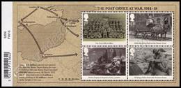 Gran Bretagna / Great Britain 2016: Foglietto Posta Militare 1914-18 / The Post Office At War 1914-18 S/S ** - WW1 (I Guerra Mundial)