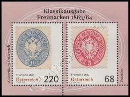 Austria 2018: Foglietto Francobolli Classici Del 1863-64 / Classic Stamps Of 1863-64 S/S ** - Francobolli Su Francobolli