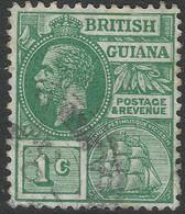 British Guiana. 1921-27 KGV. 1c Used. Mult Script CA W/M. SG 272 - British Guiana (...-1966)