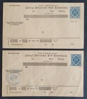 Württemberg 1891, Postanweisungs-Dienstumschlag 20Pf. ADU7 SCHORNDORF/ungebraucht - Wurttemberg