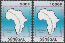 Senegal 2016 Hub Philatélique, Carte Géographique Afrique - Non Classificati