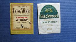 LOT 2 ETIQUETTES MIGNONETTES WHISKY - Whisky