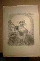 """Charles Léandre 1862-1934, Lithographie Originale, """"à Sa Chère Normandie"""" 1931 ! - Litografia"""
