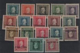 Austria Occupazione  1918 Serie Cpl MNH/MLH - Austrian Occupation