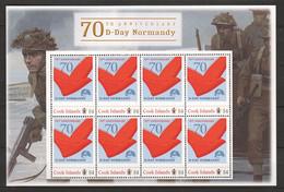 Cook Islands - MNH Sheet (1) - 70 YEARS ANNIVERSARY D-DAY - NORMANDY - Seconda Guerra Mondiale