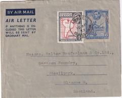 GUYANE BRITANNIQUE 1953   ENTIER POSTAL/GANZSACHE/POSTAL STATIONERY PLI AERIEN - British Guiana (...-1966)
