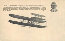 H1310 - LEFEBVRE Pilotant Un Aéroplane Système Wright - Airmen, Fliers