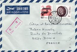 CHINE CHINA : Divers Sur Aérogramme De Canton Pour La France - Briefe U. Dokumente