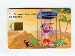 Telecarte 50u °_ 1260L-Critiques 3-Désert-Gem2-07.03-9615 Haut- R/V - 50 Unità