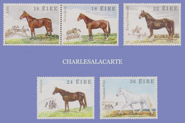EIRE IRELAND 1981  HORSES  S.G. 500-504  U.M. - Nuovi