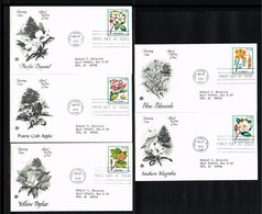 1998 - USA FDC Mi. 2938-42 - Flora - Trees - Flowering Trees [P16_333] - 1991-2000